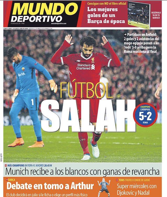 Mundo Deportivo. April 25. #frontpage #p...