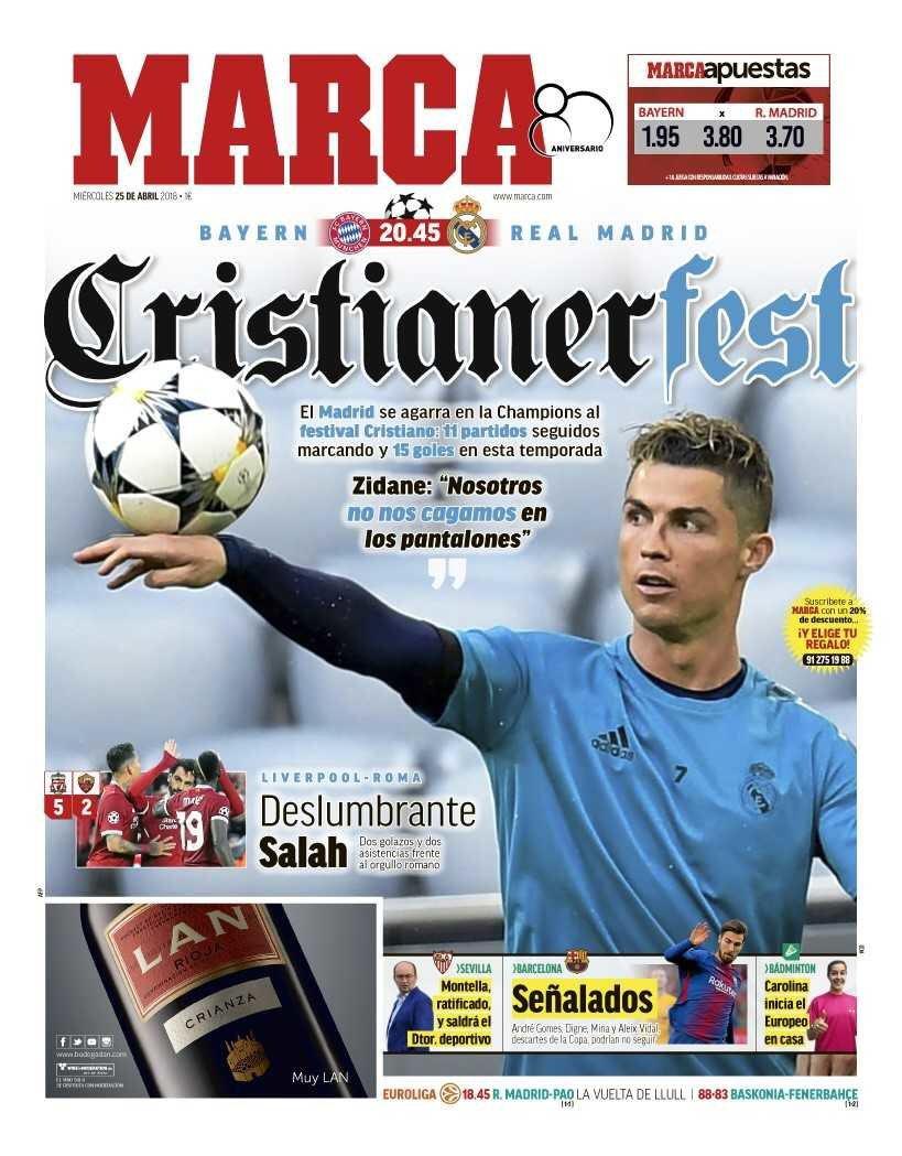 Marca. April 25. #frontpage #primapagina...