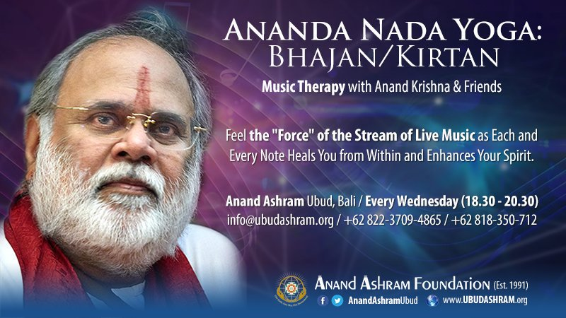 Feel the force of stream of Live #music as each and every note #heals you from within and enhances your #spirit - #Ananda #Nada #Yoga, #Bhajan #Kirtan #chanting #mantra #music #therapy  Join us #Tonight on #Wednesday #April25th @AnandAshramUbud #Ubud #Bali start at 6.30pm <br>http://pic.twitter.com/AHi5fYDalR