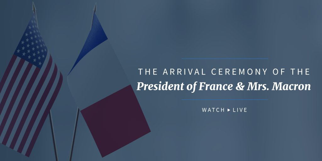 Watch LIVE the arrival of the President of France and Mrs. Macron to the State Dinner: https://t.co/EmsdctGWtd https://t.co/2c7tlgqD3E