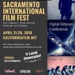 Image for the Tweet beginning: Sacramento International Film Festival is