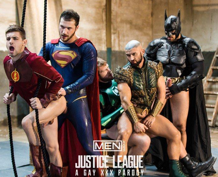 Superman en Batman Gay Sex