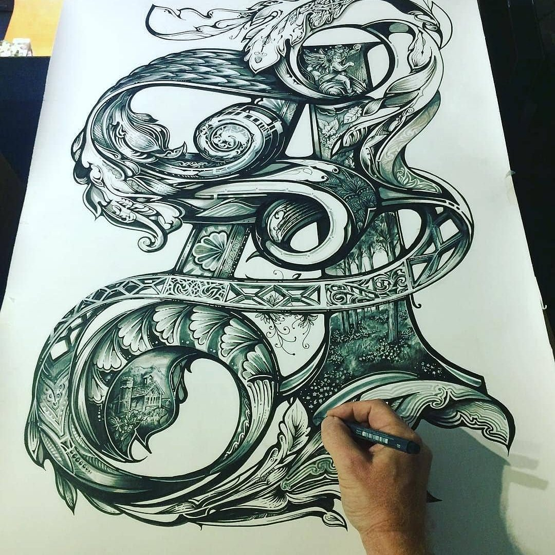 This is an incredible level of detail. Amazing work by  @vicleelondon  #sketch #draw #detail #typography #lettering #penandink #handlettering #instaart #doodle #pen #type #goodtype #thedailytype #pencil #marker #copic #micron #linework #handmadefont #handlettered #creative<br>http://pic.twitter.com/oTaTKEoL8U