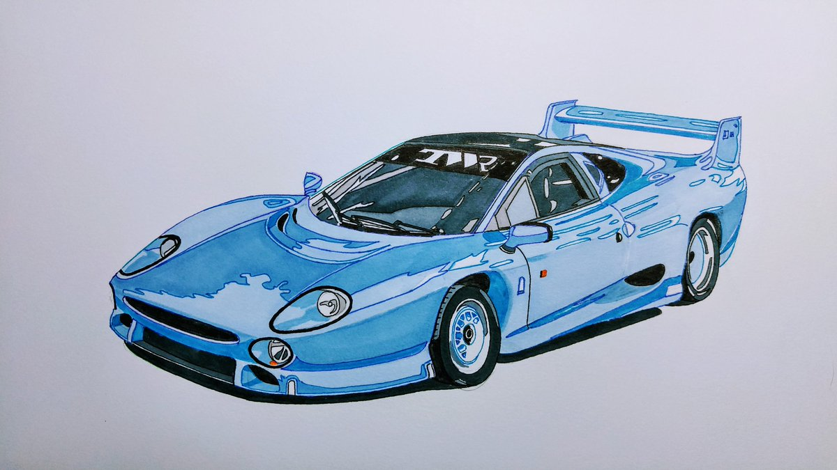 #Jaguar #XJ220 #drawing #detail https://...