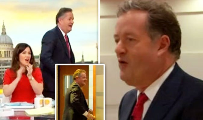 Susanna Reid's face says it all as Piers Morgan walked off the #GMB set earlier today!   https://t.co/nsWOyW1h2Y