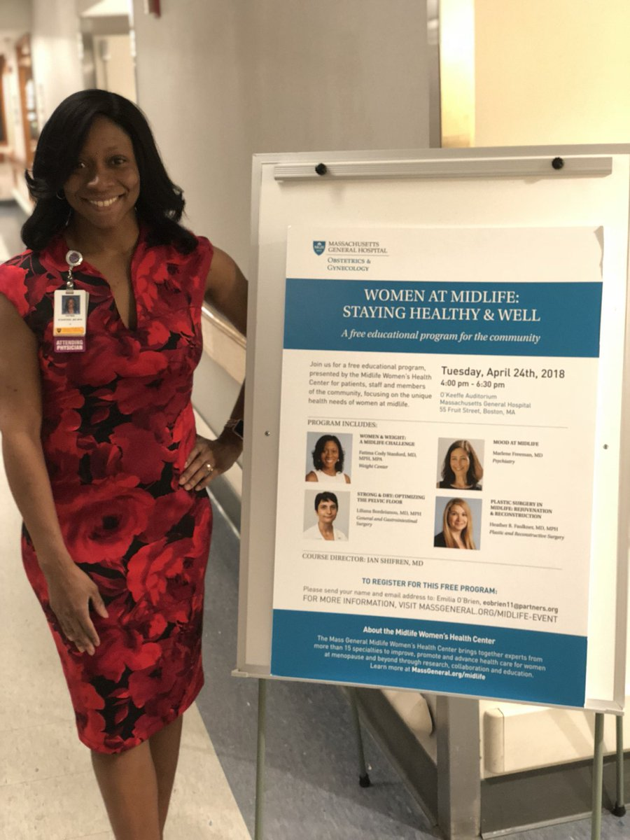 Great time speaking @MassGeneralMDs about #women and #weight in #midlife. Thanks Mass General obstetrics and gynecology for bringing together a great group. @harvardmed @AWomensHealth @MGHMedicine @MGHDisparities @ACPinternists @AmerMedicalAssn @harvardcpl<br>http://pic.twitter.com/MafAUEqOgB &ndash; à Massachusetts General Hospital