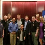Image for the Tweet beginning: The @FCSNnational crew with @funnybrad