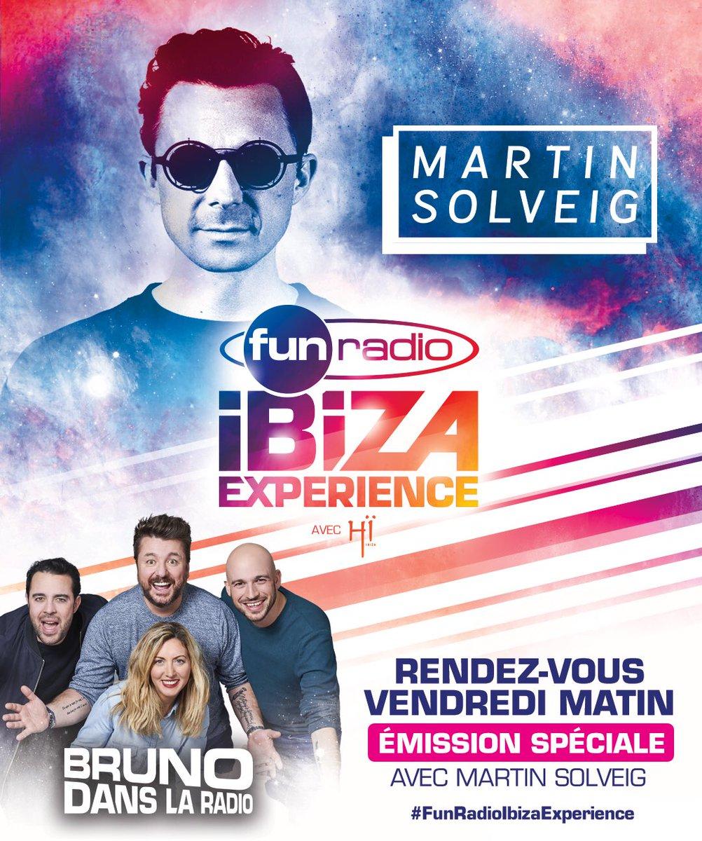 Hello la Famille! J-2 avant la #FunRadioIbizaExperience! Dès vendredi matin, on se mettra dans l'ambiance, avec @martinsolveig! 🔥 #BrunoFunRadio