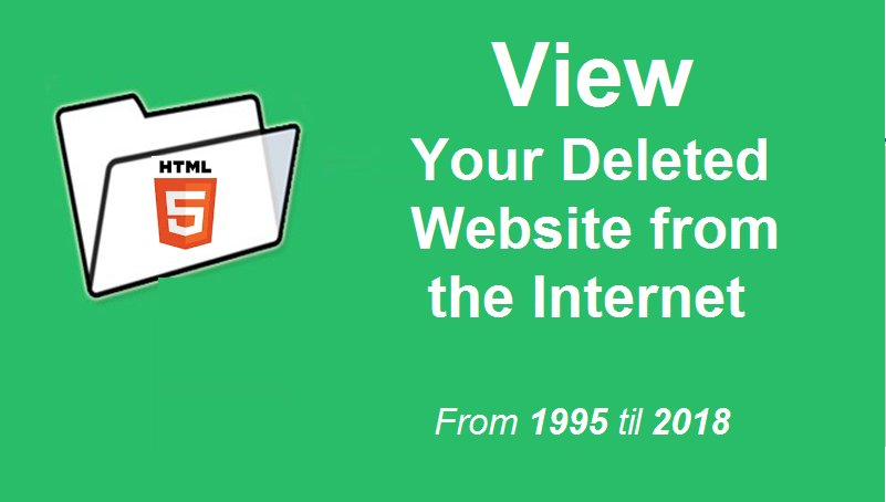 If Your old Website is gone, get it back here :  https:// archive.org/web/  &nbsp;      #javascript #Java #CSS #HTML5  #webdev  #webdesign  #webdesign  #webdevelopment #websites #html<br>http://pic.twitter.com/wnNMzqAaqk
