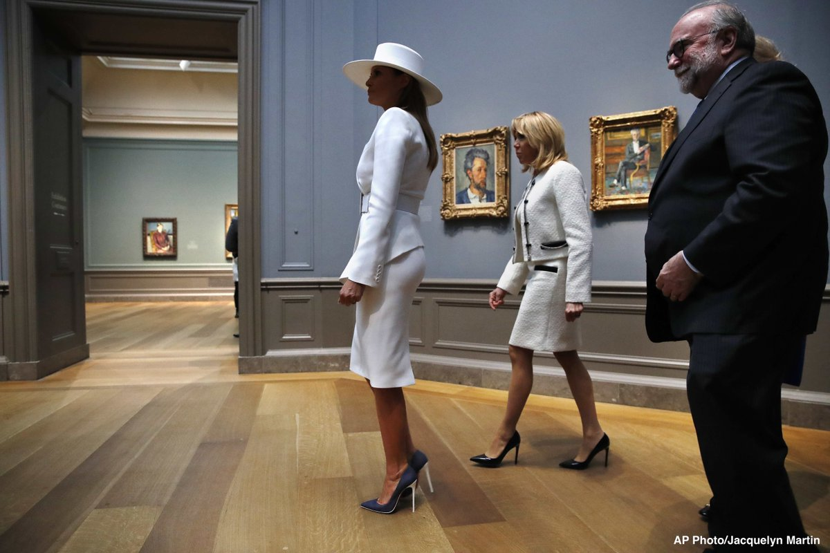Melania Trump and Brigitte Macron ditched the White House today for a visit with the works of Paul Cezanne. https://t.co/fcsZwNWkZc