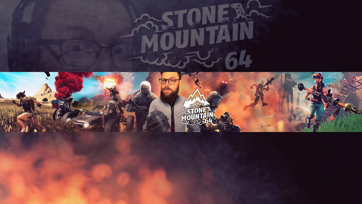 Ambientflush On Twitter Stonemountain 64 Youtube Banner Pubg