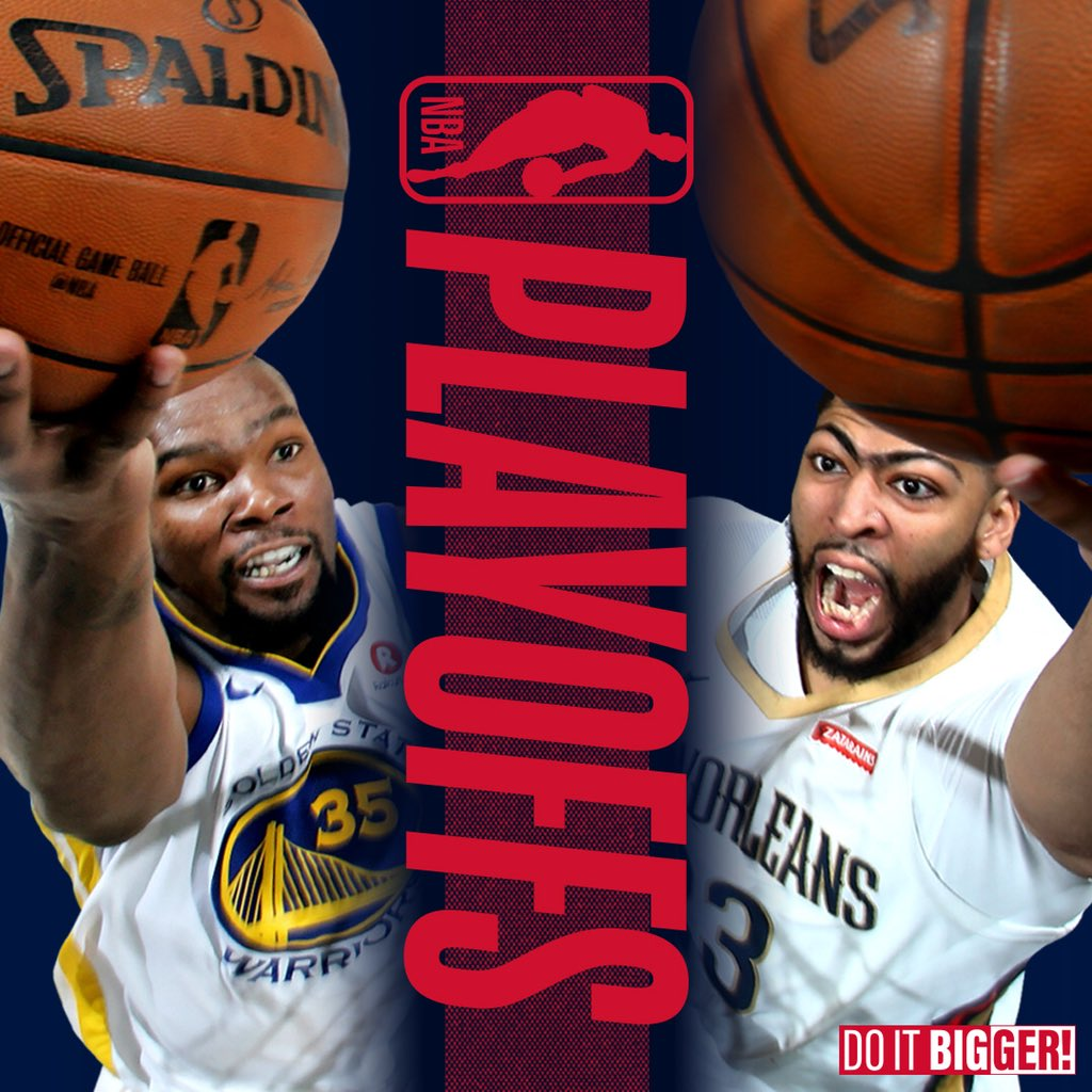 It will be Pelicans-Warriors in the 2nd round #doitBIGGER #NBAplayoffs