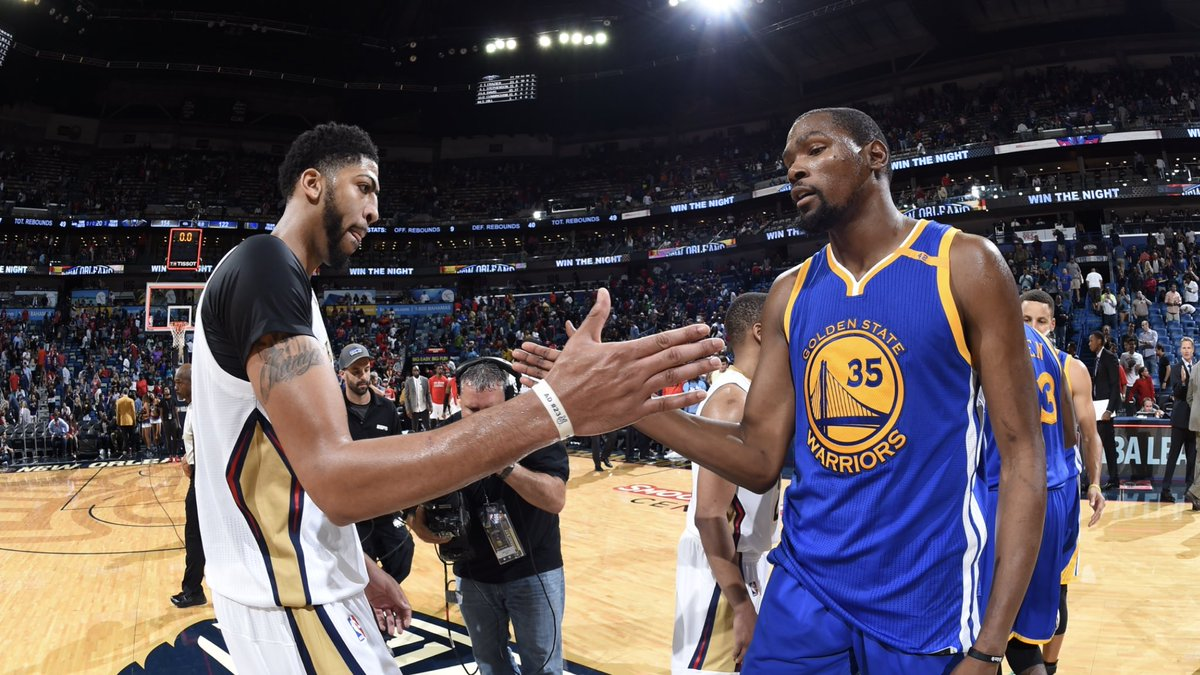 Game 1 of the Western Conference Semifinals for Pelicans at Warriors will be Saturday on @NBAonTNT   Time TBA   #doitBIGGER