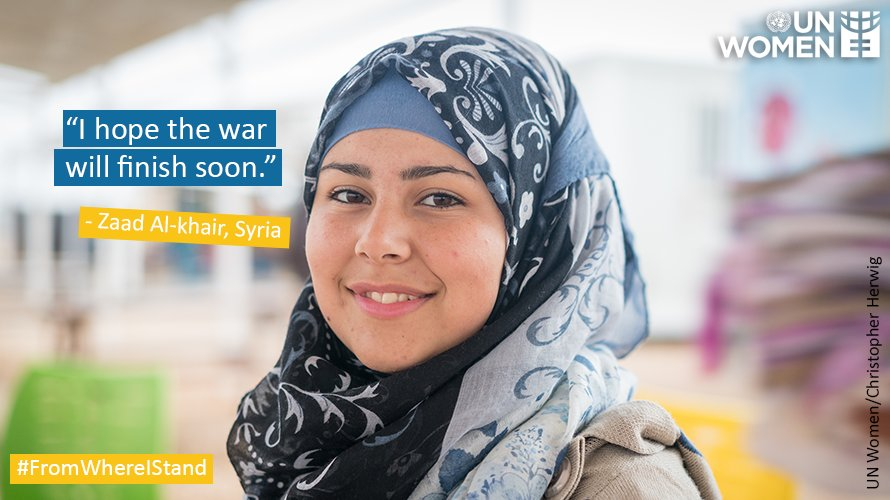 """'I want to be a translator, so that maybe one day I can tell the whole world what has happened in Syria."""" -- Zaad Al-khair.  Here's Zaad's story: https://t.co/Yz0HXiGZfQ #SyriaConf2018"""