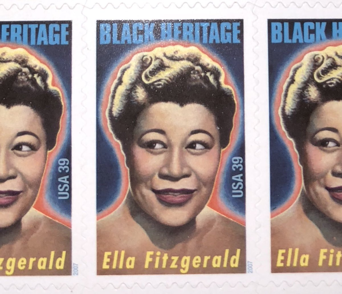 #Jazz Singer Ella Fitzgerald was born #Today 1917.  #Philately #Stamps #Collecting #Music #Singers #ThisDayThatYear<br>http://pic.twitter.com/RtGQxJOg7s