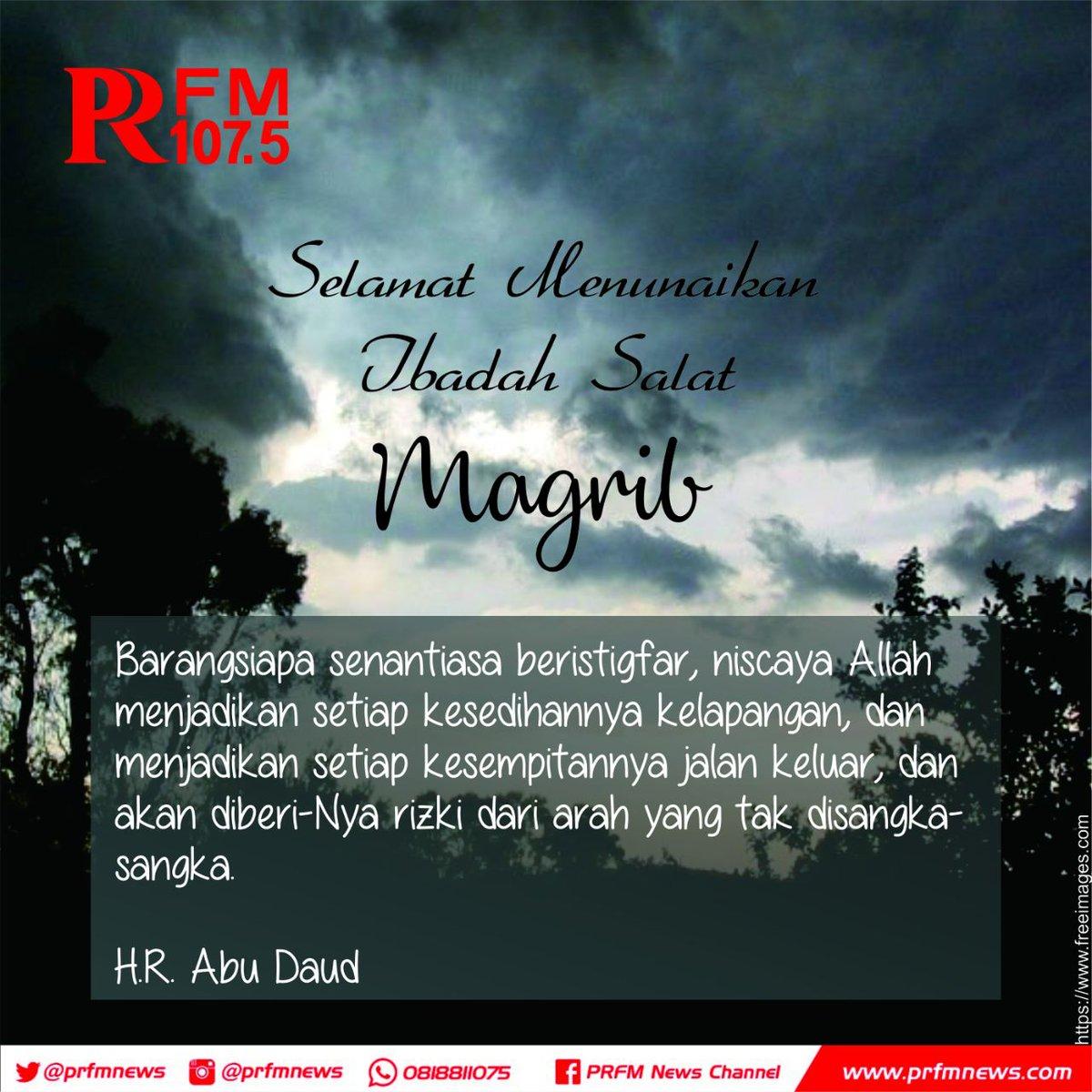 Radio Prfm Bandung Pa Twitter Telah Tiba Adzan Maghrib Untuk