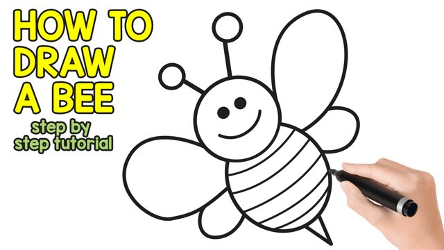 Easy Peasy And Fun On Twitter How To Draw A Bee Cute Step By