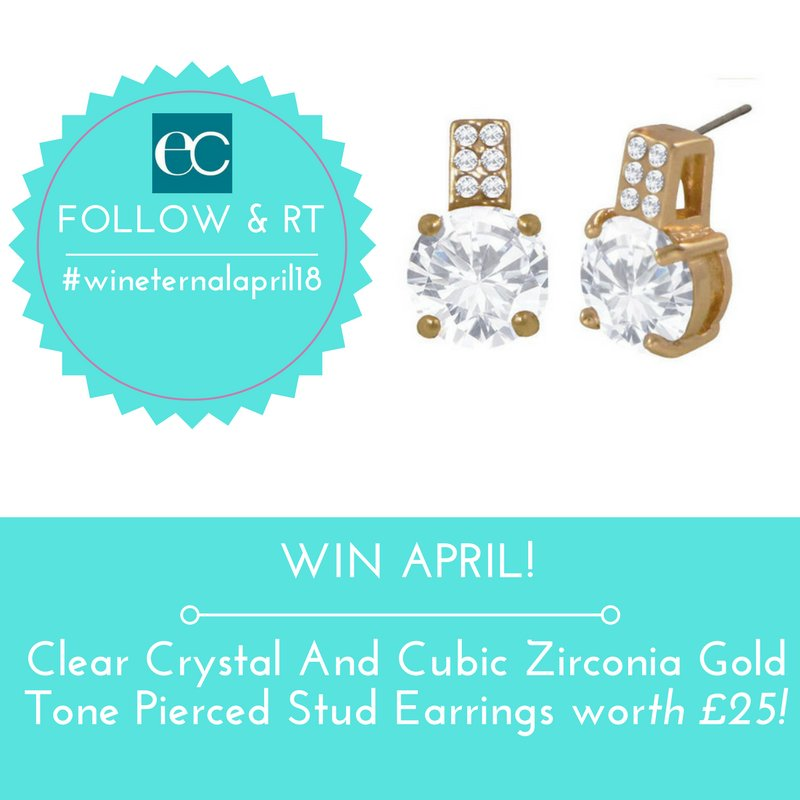 #Win this #April!!   Clear Crystal And Cubic Zirconia Gold Tone Pierced Stud Earrings worth £25  Follow / RT to enter  UK Only   Ends Monday 30th April 2018  Good Luck!!  #wineternalapril18 #WinItWednesday<br>http://pic.twitter.com/y9rD3Q187w