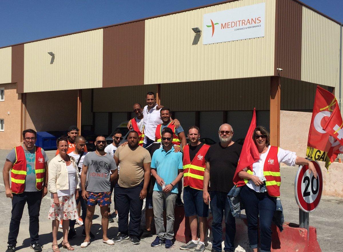 Soutien aux salariés de #Meditrans à Peynier en grève depuis 7 jours pour demander le respect de la convention collective et du #CodeDuTravail.