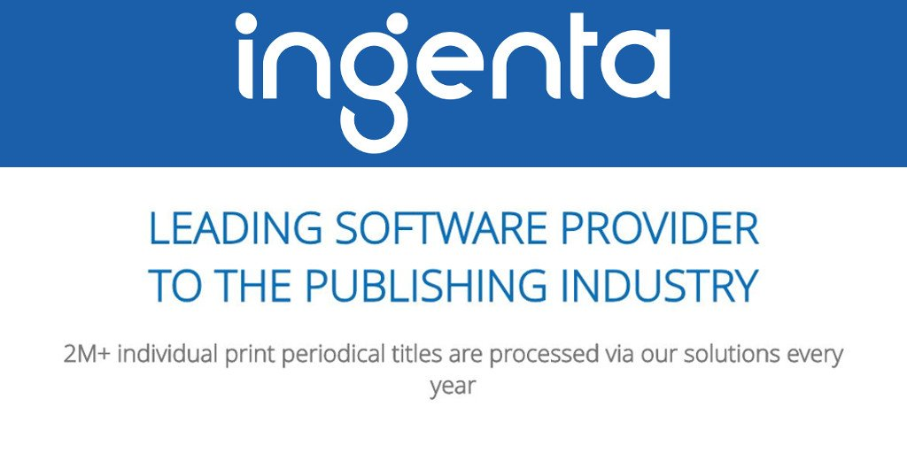 We help businesses transform by providing a diverse range of solutions for the publishing industry. #print #books #periodicals #journals #libraries. #BookExpo #SSP2018.  http:// bit.ly/ingenta  &nbsp;  <br>http://pic.twitter.com/3Zj0y7czJc