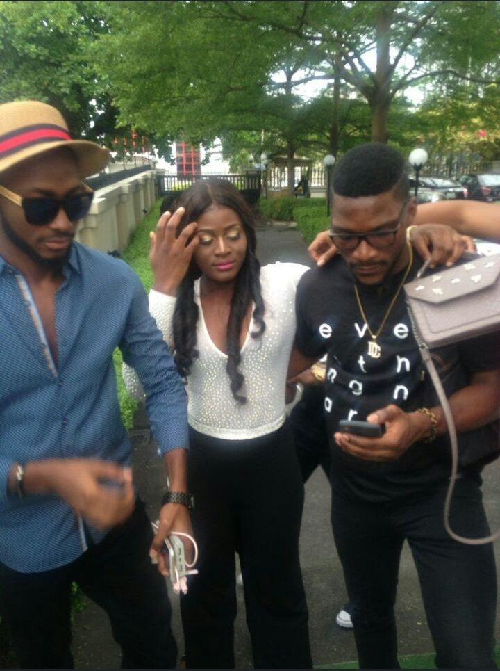 The three Musketeers.  You gotta love Miracle x Alex x Tobi Cc @Miracle860 @Alex_Unusual @tobibakre  #Bbnaija #Toraclex<br>http://pic.twitter.com/SUiXJRNPGp
