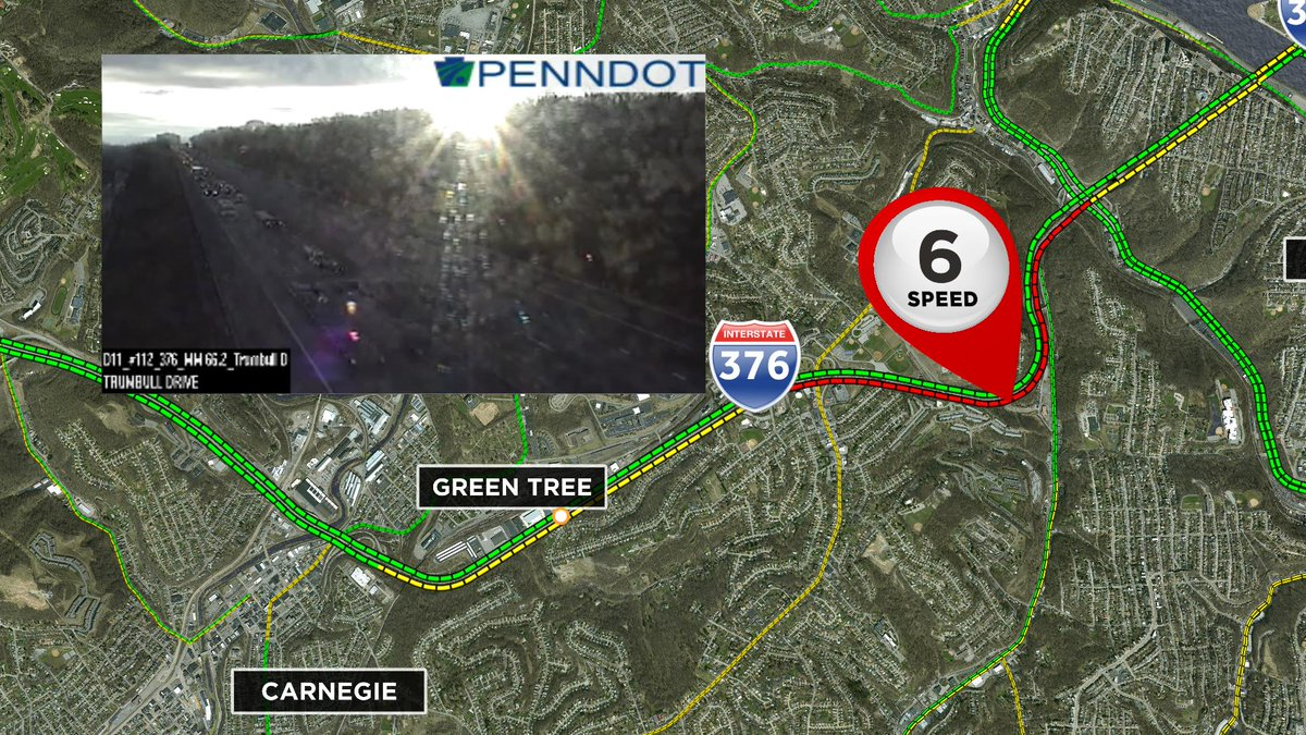 Even though you'll be sitting in traffic on the Pkwy West starting at the top of GT Hill, at least the sun is out, right?! #upwithkdka Join us now on @PittsburghsCW @CBSPittsburgh