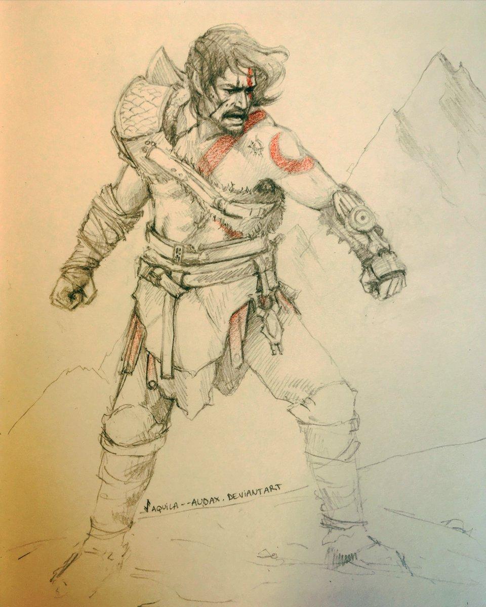 Aquila A Twitteren Kylo Ren As Kratos God Of War 4