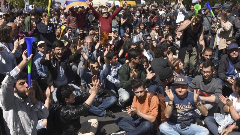 Протесты в Ереване. 25.04.2018