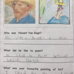 We are loving our producing art work inspired by Vincent Van Gogh linked to our keen to be green topic.
