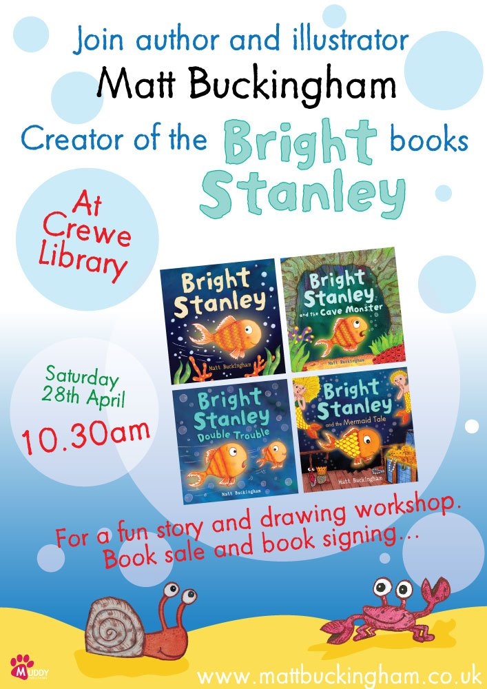 If you're in #Crewe this Saturday why not bring the kids along to a fun free story workshop and #book sale at Crewe #Library - Session starts at 10.30am @CECLibraries @CheshireEast #CEWhatsOn #PictureBooks #ChildrensBooks #libraries #kidlit #librarylife #booksfortradeuk<br>http://pic.twitter.com/u3SPvUfhU0
