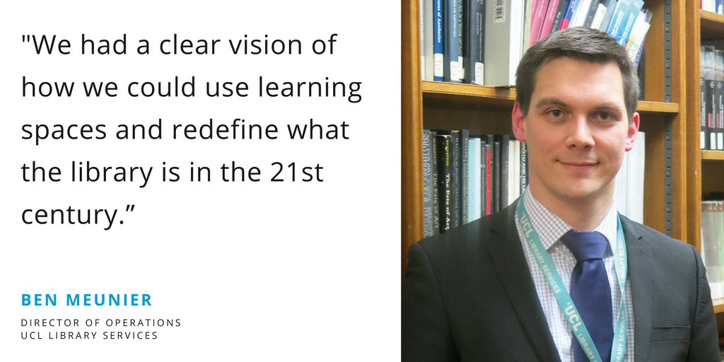 Putting people before paper - Ben Meunier on UCL&#39;s new student centre and how they&#39;ve revolutionised #library service provision. #highered  http:// ow.ly/KxOe30jEHEW  &nbsp;  <br>http://pic.twitter.com/llEPlra7xD