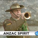 Image for the Tweet beginning: ANZAC SPIRIT: A tearful reminder