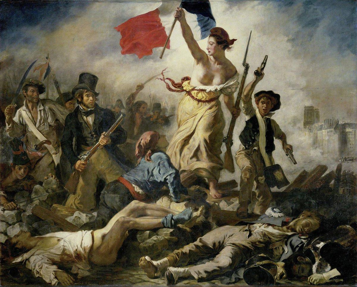 La libertà è come l'aria: ci si accorge di quanto vale quando comincia a mancare  Pietro Calamandrei  Delacroix  Buon 25 Aprile