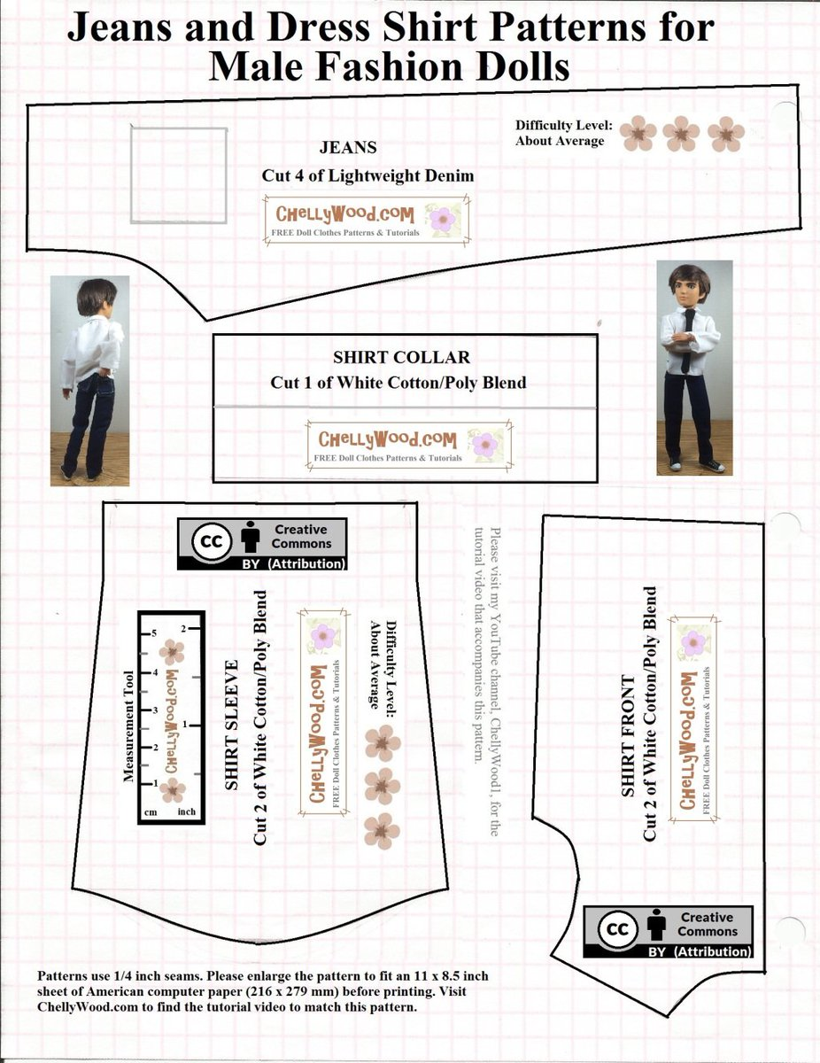 photograph relating to Free Printable Ken Doll Clothes Patterns identify Cy Picket upon Twitter: \