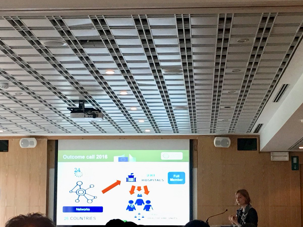 Annika Nowak, member of cabinet @V_Andriukaitis talking about European Reference Networks on #rarediseases as one of the success stories for EU #healthresearch <br>http://pic.twitter.com/xl3fGJX1gr