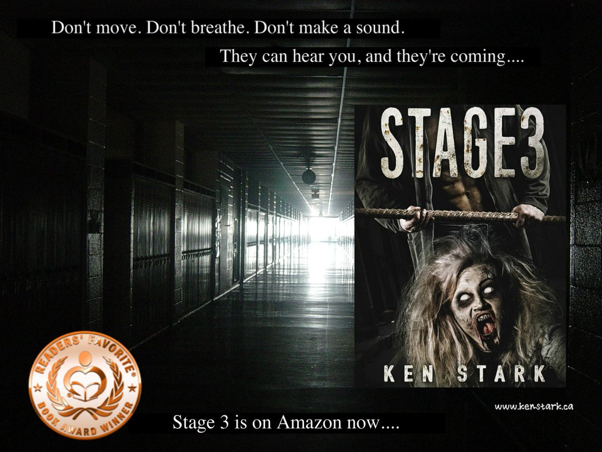 A sudden flurry of shadows against the deeper blackness. They were there, and they were coming....   https://www. amazon.com/dp/B01CYITYOS  &nbsp;   #horror #zombie #apocalypse #survival #thriller #series  #ReadersFavorite Read #Stage3 for #FREE w/ #KindleUnlimited<br>http://pic.twitter.com/Lil24tE4X3