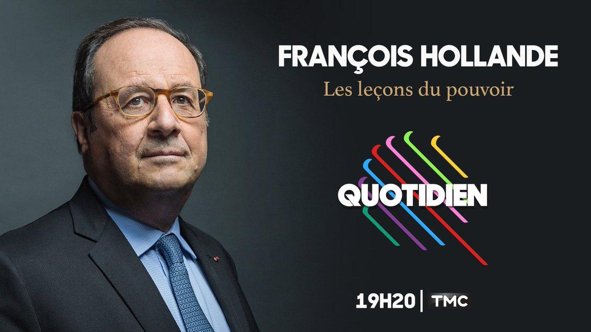 Bientôt un an qu'il a quitté l'Élysée. #Quotidien revient sur le quinquennat 2012-2017 avec François Hollande ce soir. ⏰ 19H20 📺 @TMCtv 👤 @fhollande