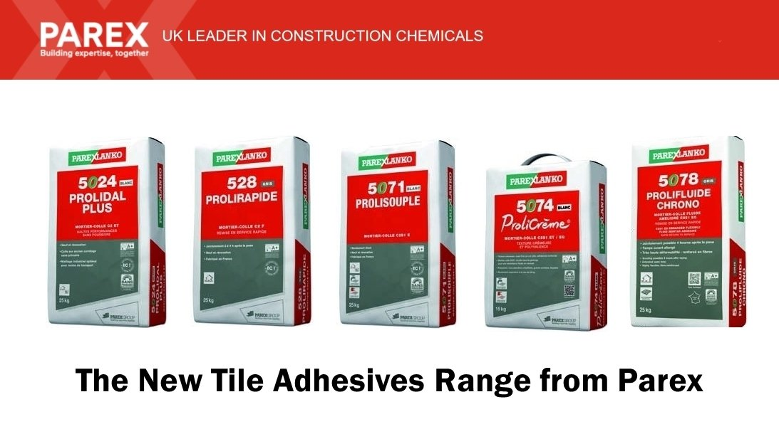 Parex Uk On Twitter Have You Seen Our New Tile Adhesives Range A Of Advanced For Both Floor Wall Tiling Lications