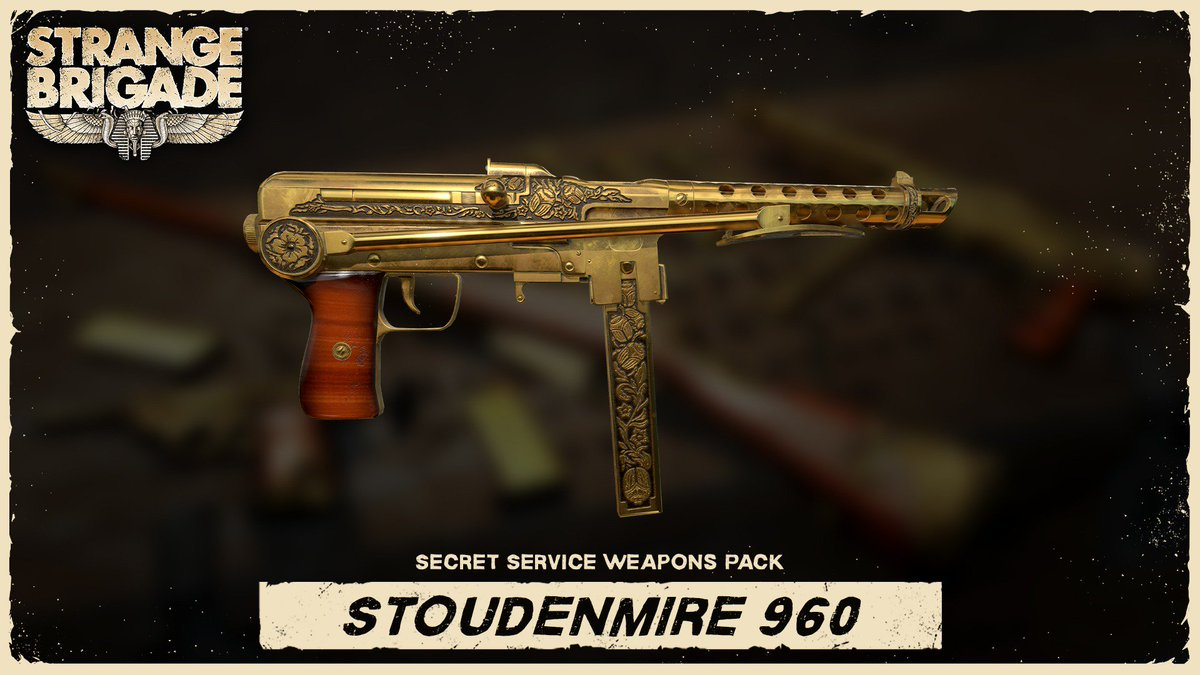 Strange Brigade Su Twitter Next Up The Stoudenmire 960 The Stoudenmire May Not Be The Heaviest Of Fellows But When It Fires Over 900 Rounds Per Minute With Alarming Accuracy It Ll Do