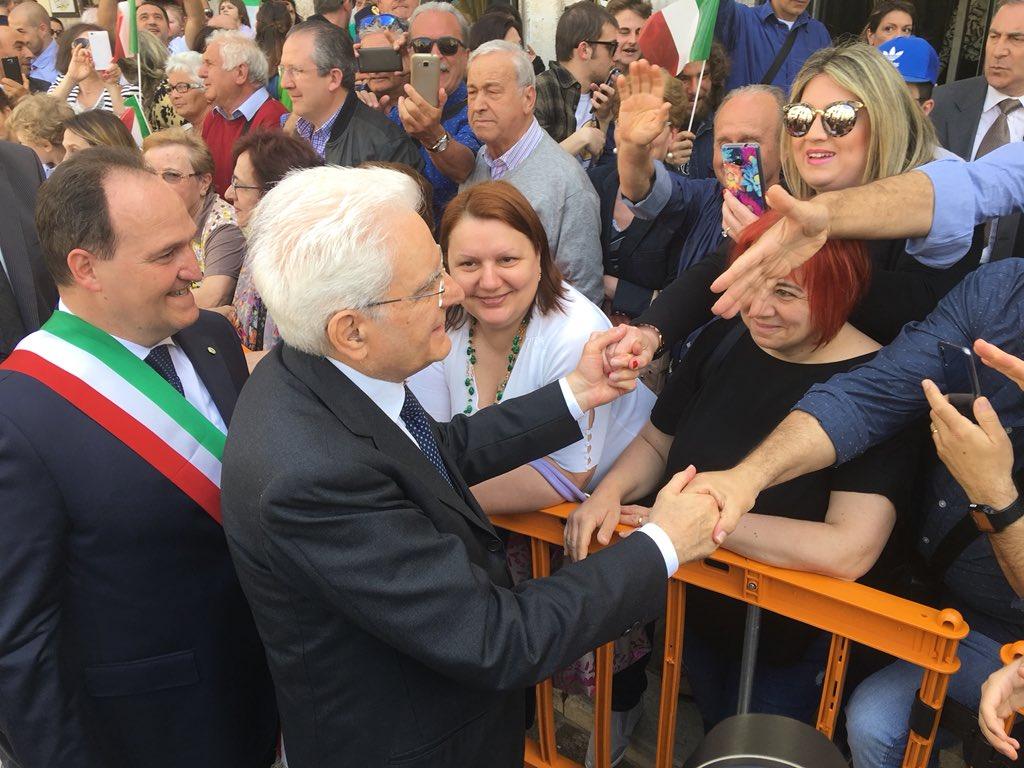 #25Aprile, il Presidente #Mattarella arriva a #Casoli per la cerimonia del 73º anniversario della #Liberazione