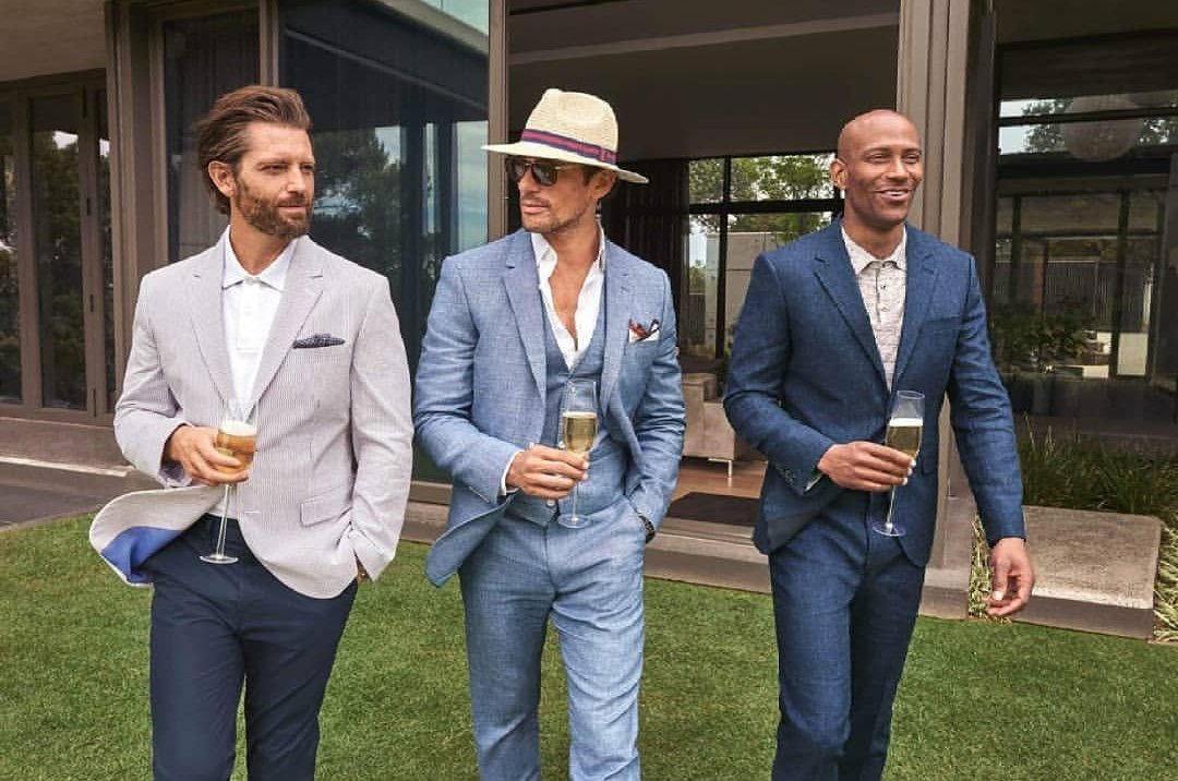 From 1pm to 1.45 @Teovandenbroeke and myself will be hosting a Facebook live talking mens summer and wedding style. Watch it on @BritishGQ or @marksandspencer Facebook pages today