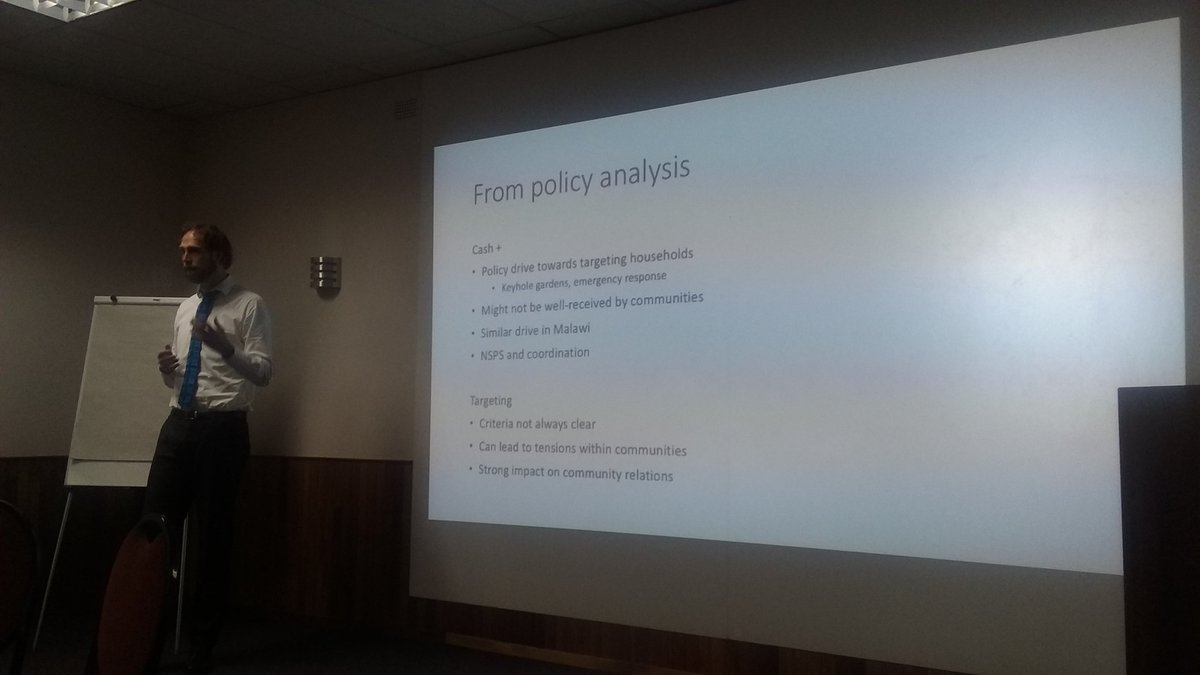 Today I&#39;m in #Maseru presenting some findings of my #policy #research on #cashtransfers in #Lesotho. Key messages revolve around cash+, targeting, conditionality, and transfer levels and how decisions about this affect communities.<br>http://pic.twitter.com/el0p06lNuI