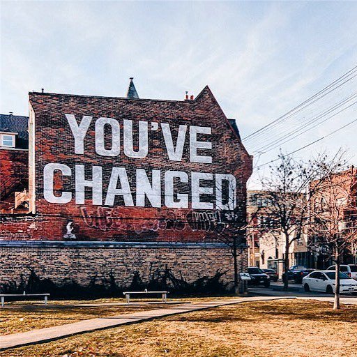 Multi-disciplinary artist Jesse Harris completed this mural in the Queen Street West neighbourhood of Toronto to support a positive message to patients visiting the adjacent Centre of Addiction and Mental Health #streetart #typography #toronto<br>http://pic.twitter.com/YZV5PAK9Wz
