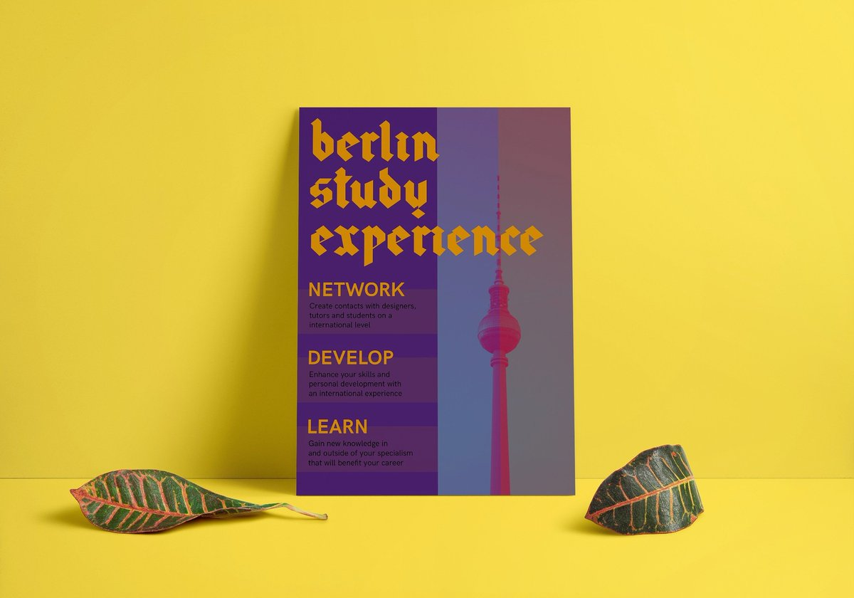Submission poster for my study abroad experience in Berlin. Experience blog here:  http:// grfkdesignblog.wordpress.com  &nbsp;   #GraphicDesign #posterdesign #typography #creative<br>http://pic.twitter.com/kMgVeskMG2