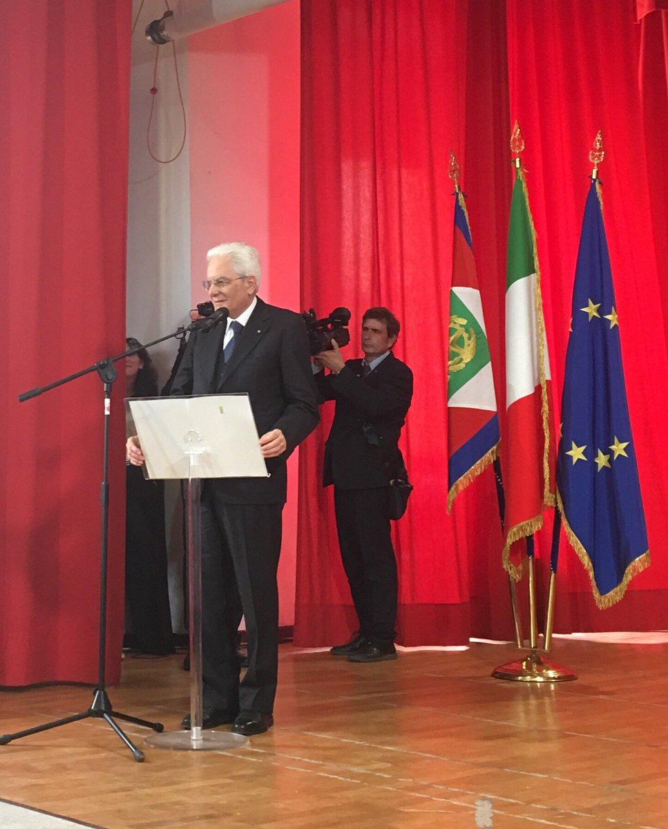 #Casoli, #Mattarella: In questa Regione, così bella e così fiera, si svolsero, tra il 1943 e il 1944, alcuni degli episodi più drammatici e decisivi della lunga e sanguinosa guerra per liberare l'Italia dal nazifascismo