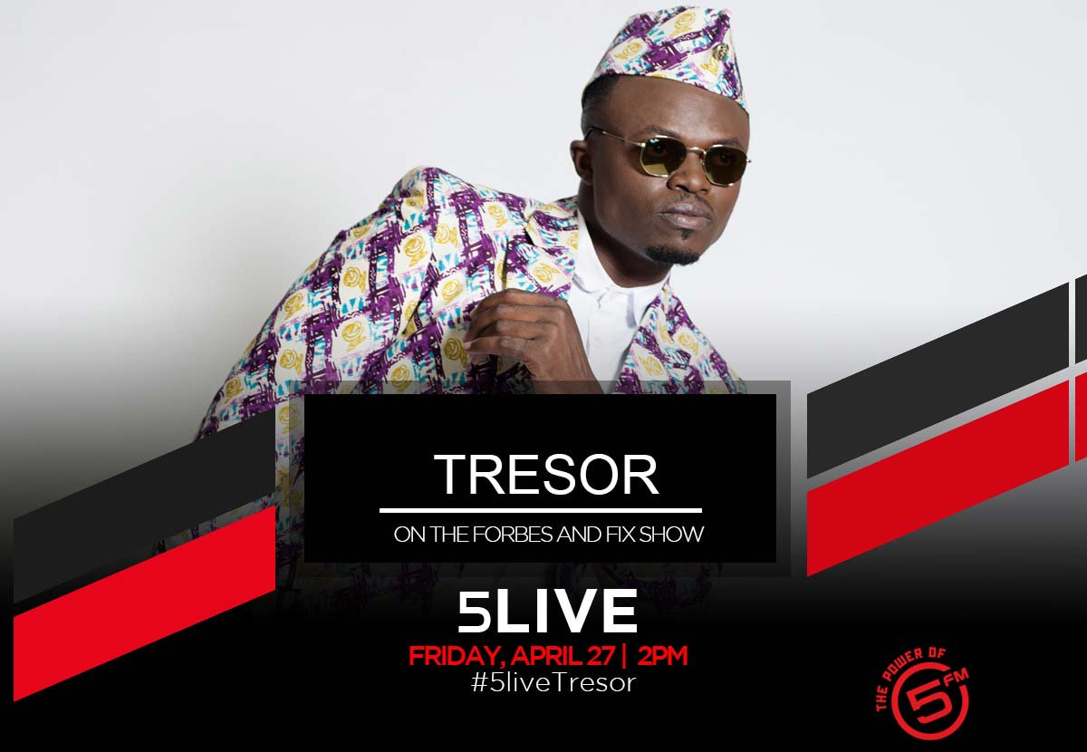 THIS FREEDOM DAY!   We celebrate with an hour of @tresorofficial on 5LIVE - hosted by @ASE_SA!  2PM | @ForbesAndFix |   👂🏾 LIVE on air  👀 LIVE on Facebook