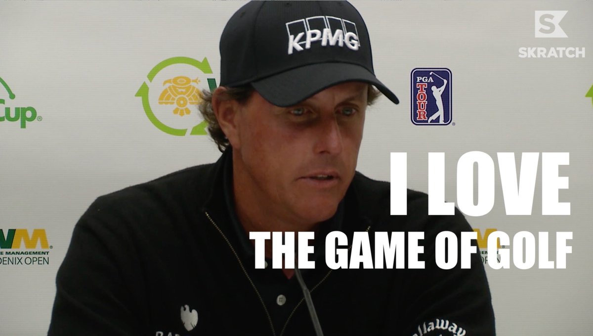 .@PhilMickelson sums up why we love golf (and Phil) on #NationalGolfLoversDay.