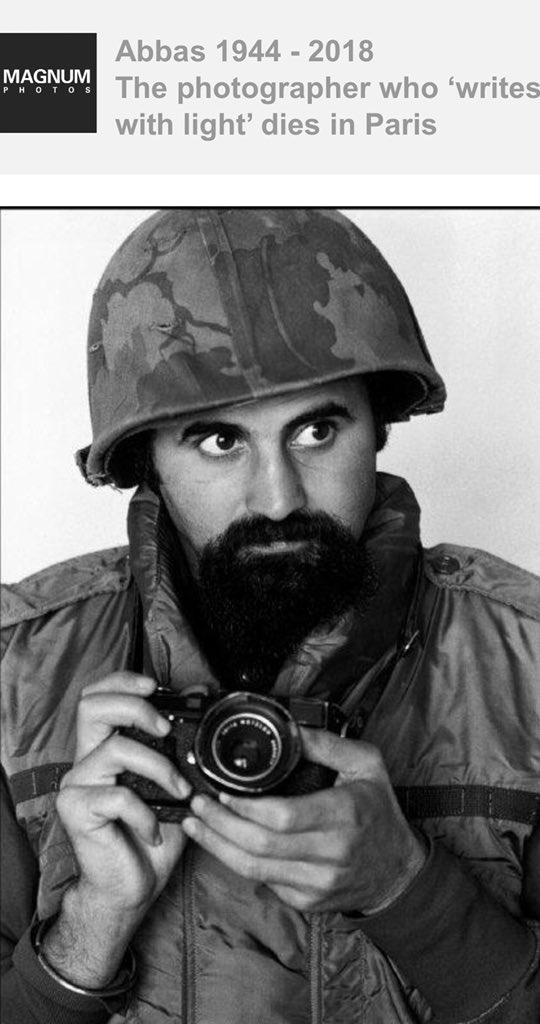 Très triste d'apprendre la mort d'Abbas, photographe franco-iranien de Magnum. Un grand parmi les grands. Son œuvre est considérable et couvre tant de domaines. [thread]