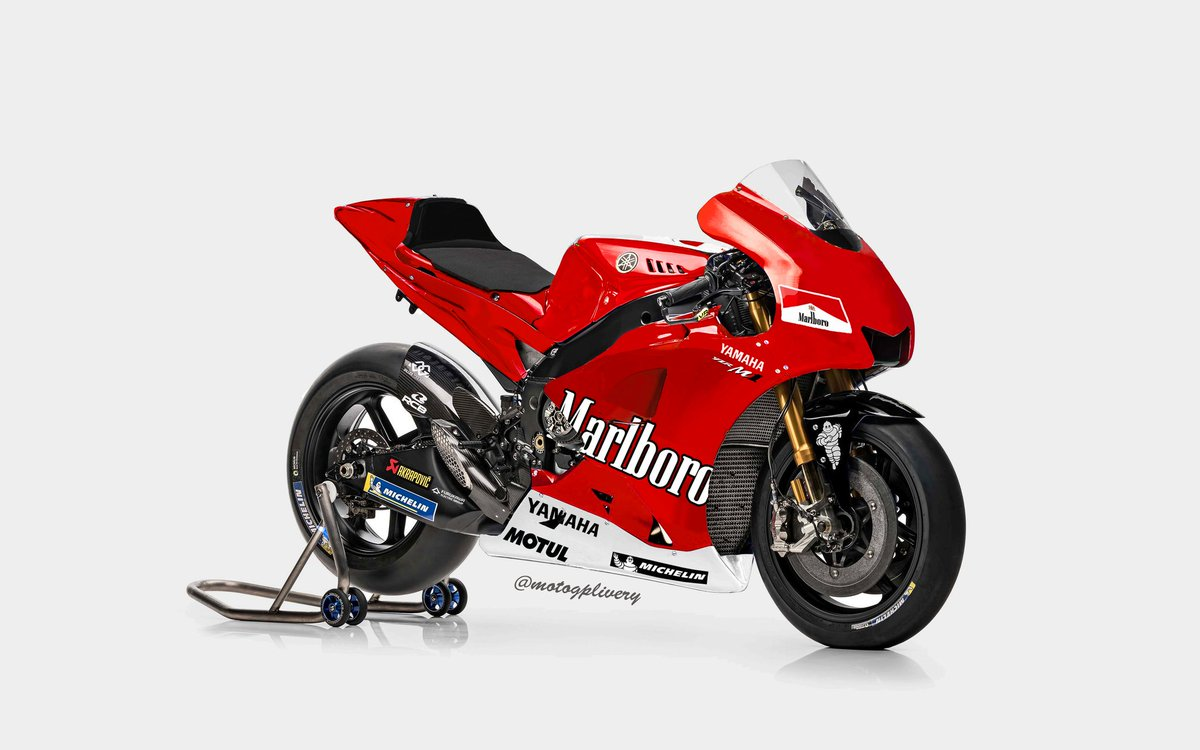 Motogp Livery On Twitter Those Old School Livery Looks So Good Marlboro Livery On The 2018 Yamaha M1 Yamaha Motogp Motogpliveries