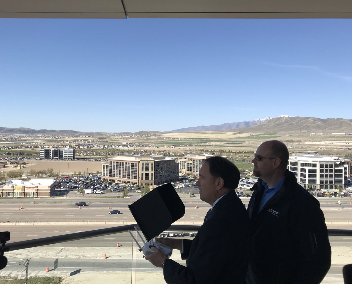 Taking a drone tour of @UtahDOT's planned I-15 expansion project in Lehi, priority #1 for UDOT in reducing traffic congestion.